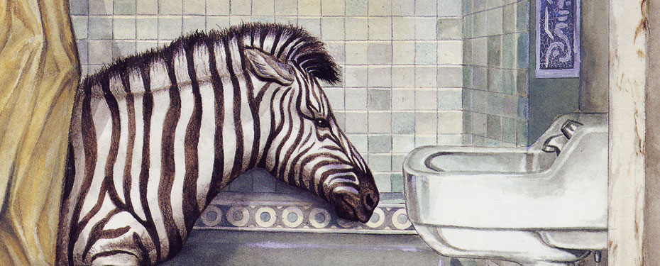 """Z is for Zebra Taking a Bath"""